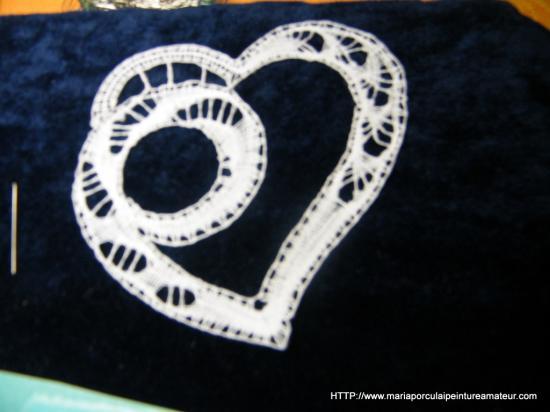 Coeur en dentelle aux fuseaux
