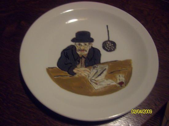 peinture sur porcelaine,faite par Maria