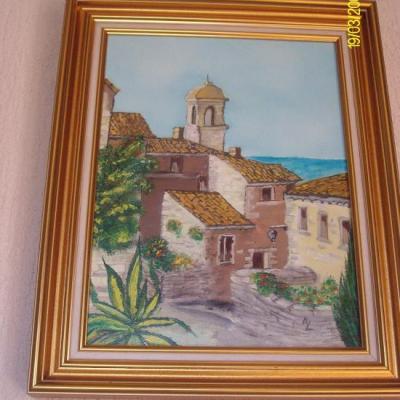 Peinture à l'huile d'Alain