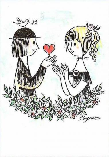 Les amants de Peynet